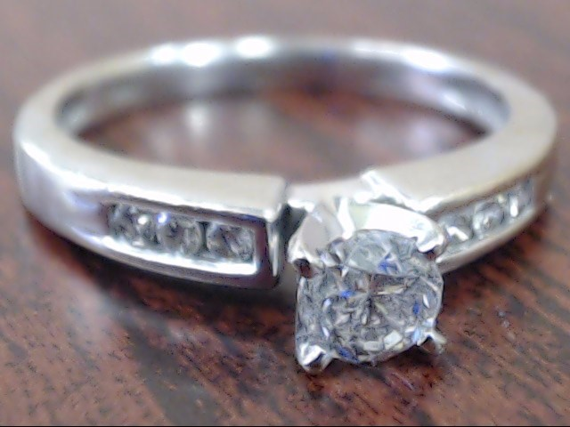 NATURAL DIAMOND 0.48 CTW ENGAGEMENT WED RING 14K WHITE GOLD SZ 7.25