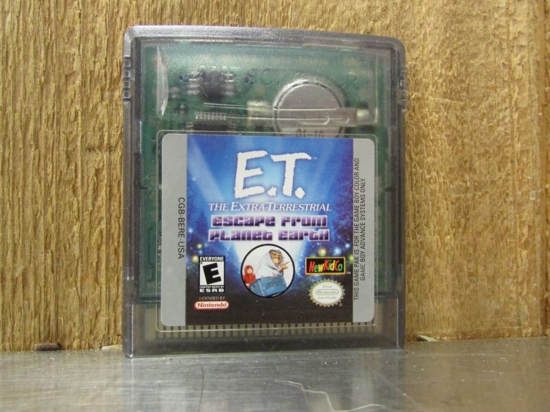 NINTENDO Vintage Game E.T. THE EXTRATERRESTRIAL ESCAPE FROM PLANET EARTH