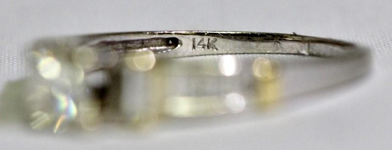 14K Two Tone Gold Princess & Baguette Diamond Heart & Filigree Wedding Ring Set