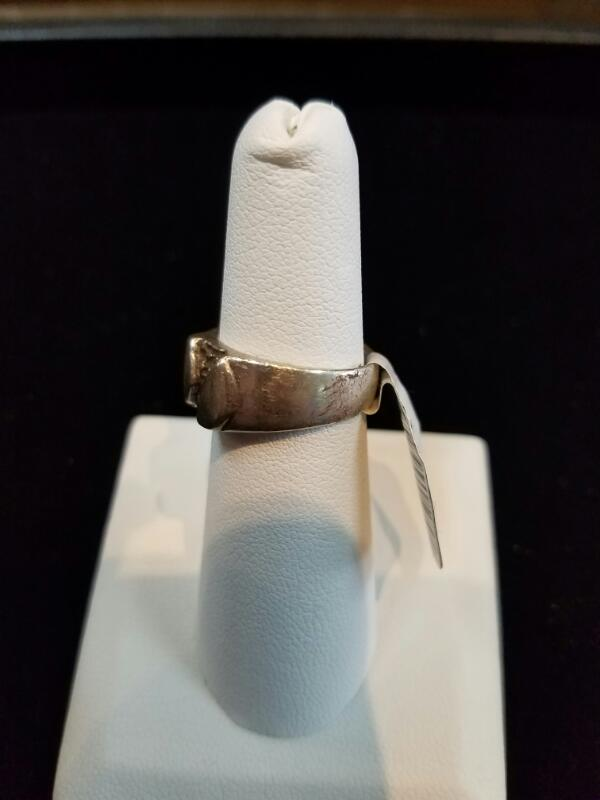 Lady's Artsy Silver Ring 925 Silver 5.6g Size:7 (Free S/H)