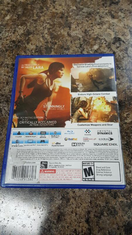Tomb Raider - Definitive Edition (Sony PlayStation 4, 2014) PS4