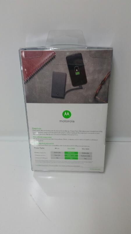 *NEW* Motorola Power Pack Slim 2400 Portable External Battery Charger