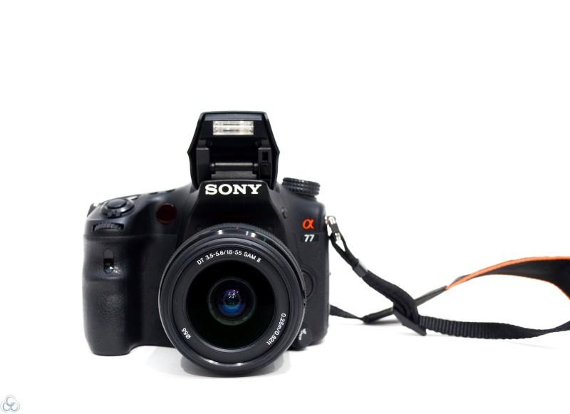 SONY SLT-A77V-24.3MP-Digital SLR-18-55 MM SAM II Lens-Pop-up Flash
