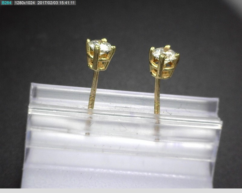 DIAMOND EARRINGS APX.32CTW 14KYG 0.3G *NO BACKS*