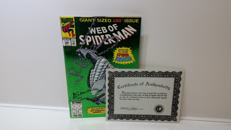 Web of Spiderman #100 (May, 1993) Giant Sized Signed Alex Saviuk 517/5000