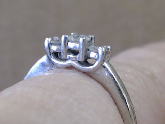 3 NATURAL DIAMOND 0.22 CTW ENGAGEMENT WED RING 14K WHITE GOLD SIZE 6