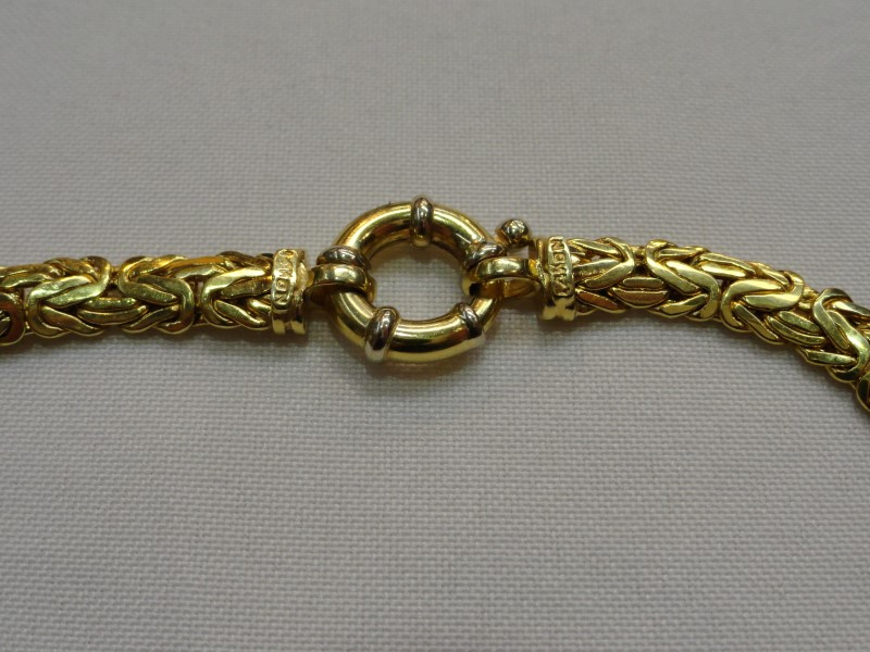 "18.5"" 14K Yellow Gold Byzantine Chain 23.3g"