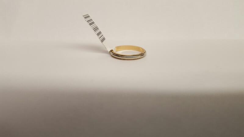 Lady's Gold Ring 14K 2 Tone Gold 2.15g Size:5.5