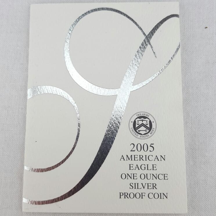 2005 UNITED STATES AMERICAN EAGLE SILVER PROOF W/ CERTIFICATE
