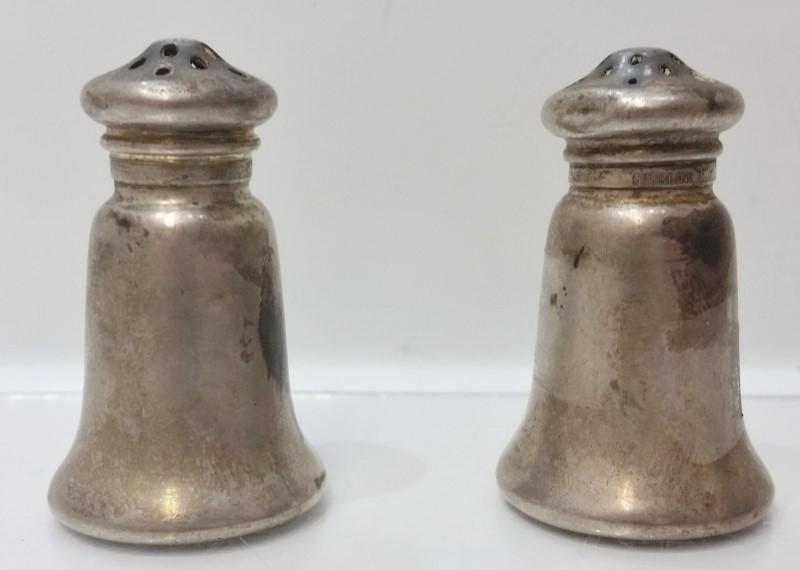 Vintage Antique Gorham A3136 Miniature Sterling Silver Salt & Pepper Shakers