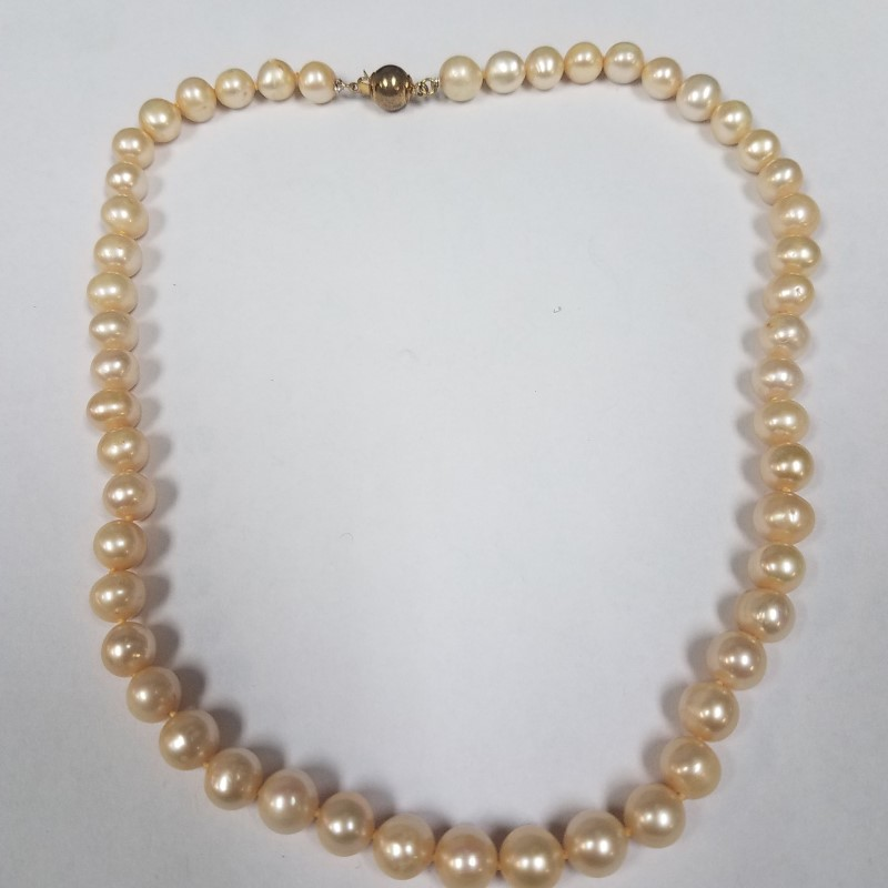 """16"""" CULTURED PEARL STRAN NECKLACE 46X8.00MM PEARLS"""