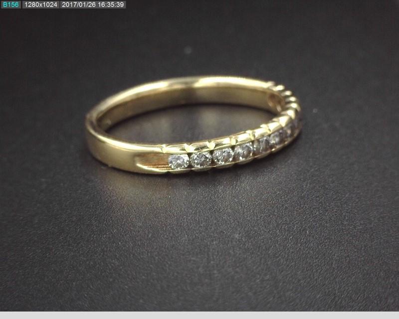 14K YG LADY'S DIAMOND ANNIVERSARY BAND APX.36C.T.W 2.1G SZ.6