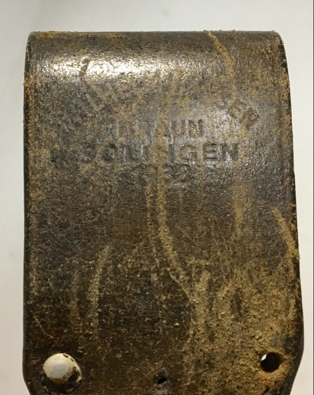 "J.A.HENCKE 1918 COMBAT BAYONET W/SHEATHE WWI 10"" BLADE"