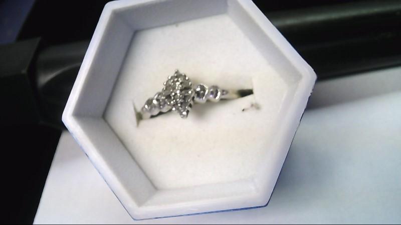 Lady's Diamond Fashion Ring 20 Diamonds .20 Carat T.W. 10K White Gold 2g Size 9