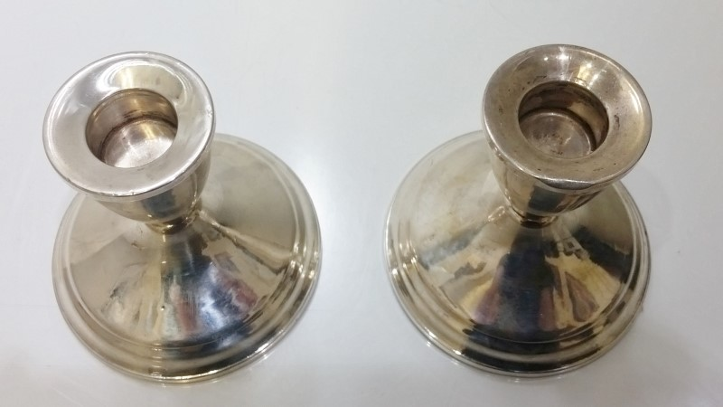 Vintage Duchin Creations Sterling Silver Weighted Candlestick Holders (Pair)