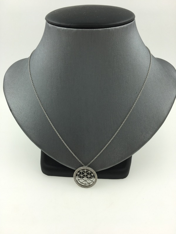 "Tiffany & Co. 18"" Diamond Necklace 35 Diamonds .35 Carat T.W. 950 Platinum 5.4g"