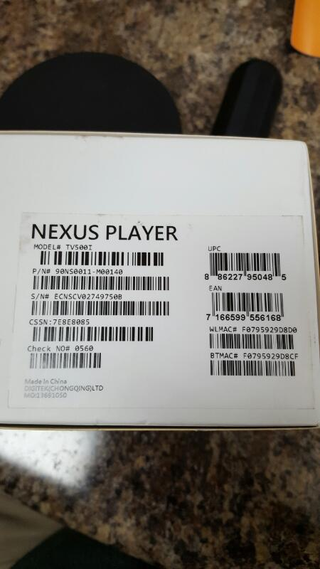 Google - Nexus Player Streaming Media Console TV500I - Black
