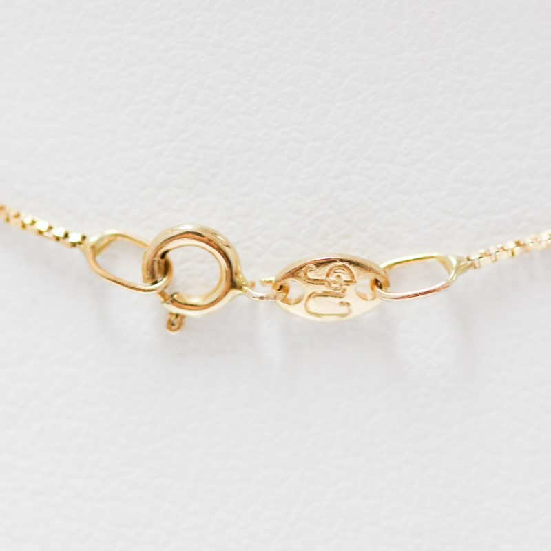 """14K 2-Tone Gold Heart & Flower """"LOVE"""" Pendant"""