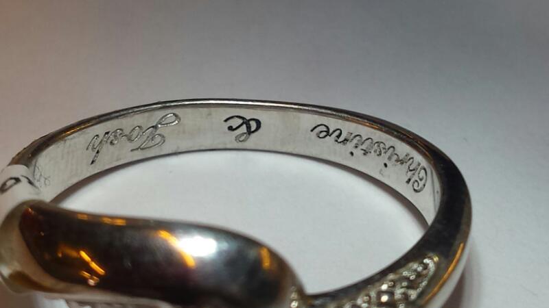 Lady's Silver-Diamond Ring 6 Diamonds .06 Carat T.W. 925 Silver 2.15dwt