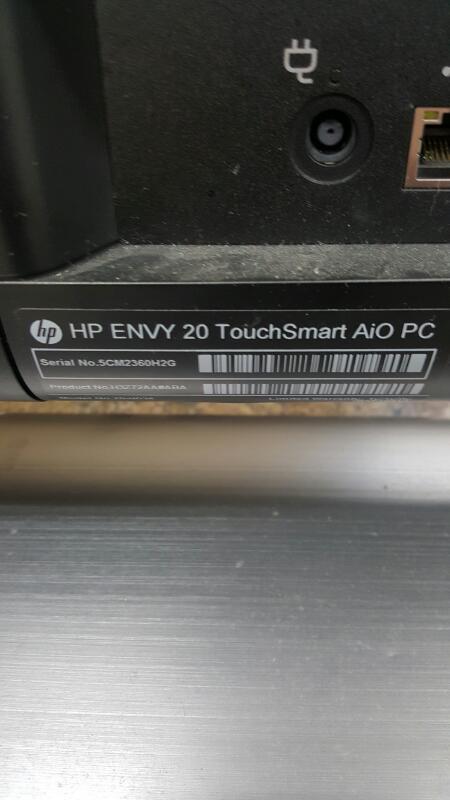 """HP Envy 20-d034 (NO OS, 20"""", 500gb & 16gb, 4gb, Core i3 @ 3.40ghz)"""