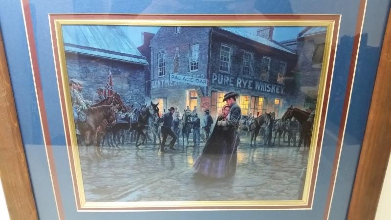 """""""The Palace Bar"""" Mort Kunstler Framed & Double Matted Civil War Print"""