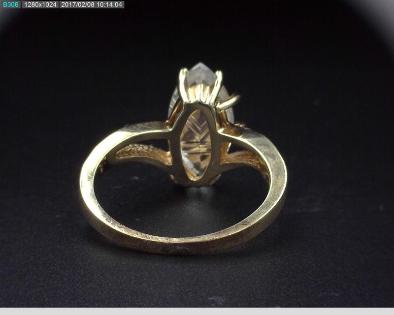CUBIC ZIRCONIA LADY'S RING IN 14K YELLOW GOLD 3.9G SZ.7 *NOT DIAMOND*