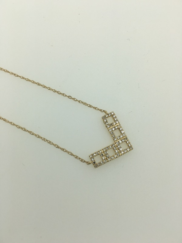 Diamond Necklace 25 Diamonds .25 Carat T.W. 14K Yellow Gold 1.8g