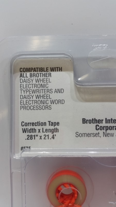 Set of 4 Brother 1030 Correctable Film Ribbon & 3010 Lift-Off Correction Tapes