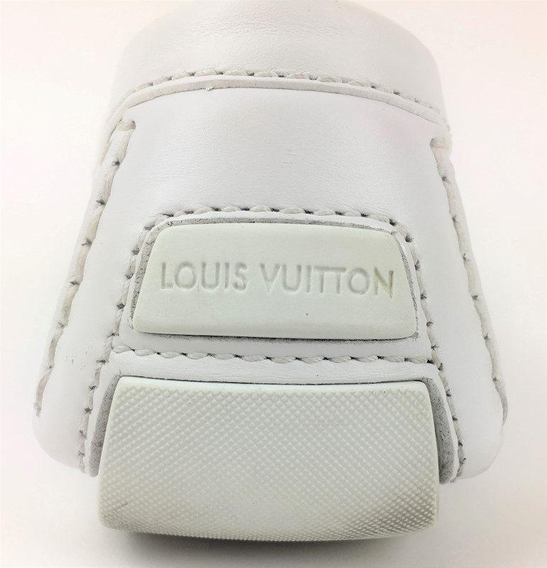 LOUIS VUITTON WHITE LEATHER MONTE CARLO MOCCASIN SZ 11