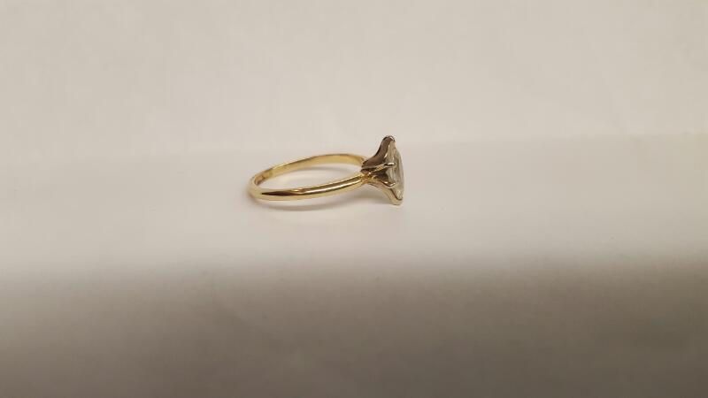 Lady's Diamond Solitaire Ring .75 CT. 14K Yellow Gold 4.46g Size:6.3
