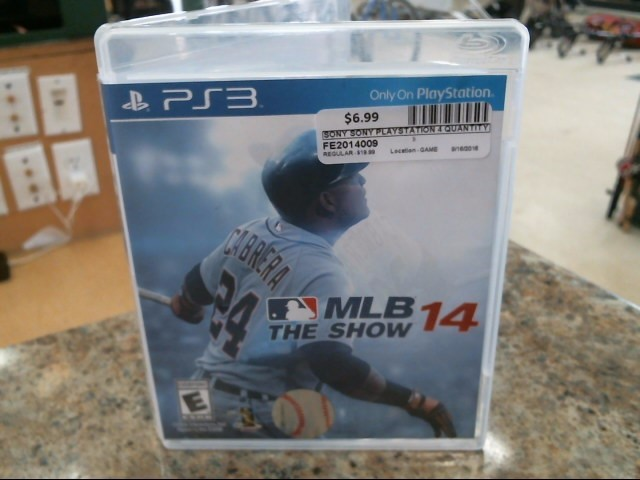 SONY Sony PlayStation 3 Game MLB THE SHOW 14 - PS3