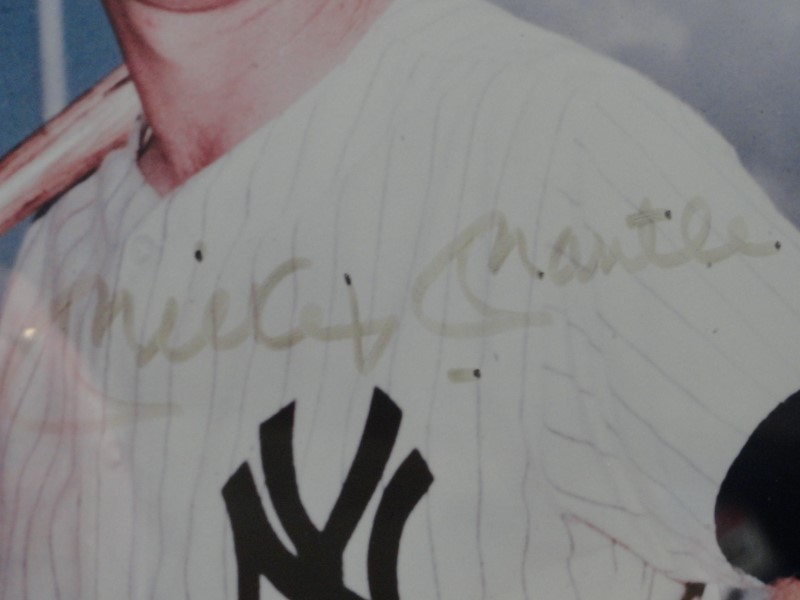 Mickey Mantle Autographed Picture w/ COA