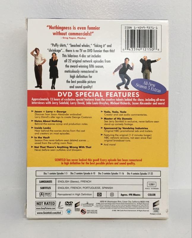 Seinfeld - Season 5 (DVD, 2005, 4-Disc Set)