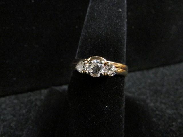 Lady's Diamond Wedding Set 3 Diamonds .71 Carat T.W. 14K Yellow Gold 4.5g