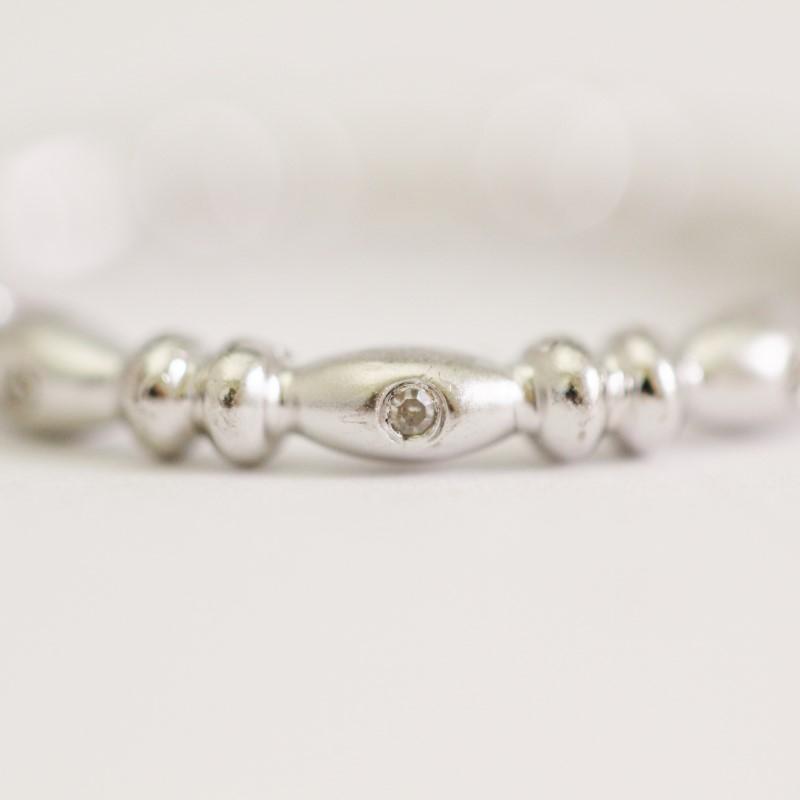 Sterling Silver Round Brilliant Cut Diamond Ring Size 6