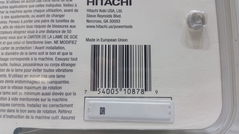 """Hitachi 310878 10"""" 40-Tooth Tungsten Carbide Tipped Arbor Finish Saw Blade"""