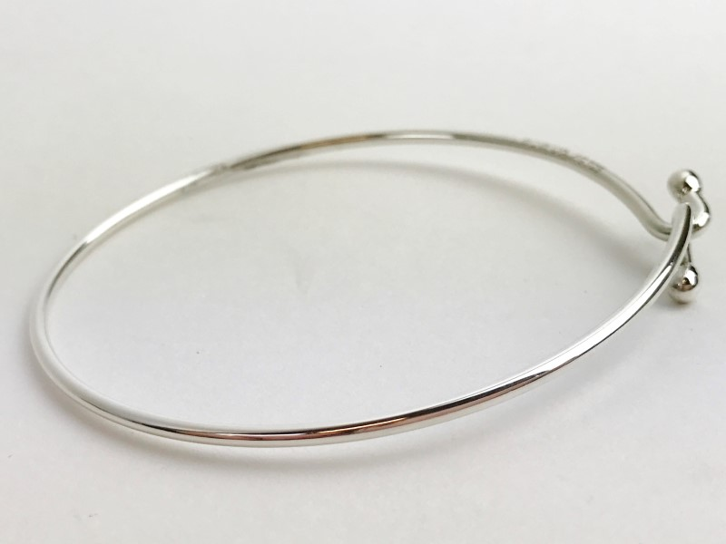Tiffany & Co. Sterling Silver Wire Bracelet 8.31g Pre-owned ...