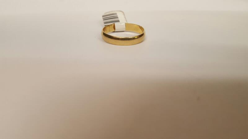 Gent's Gold Wedding Band 14K Yellow Gold 2.65g Size:9.8