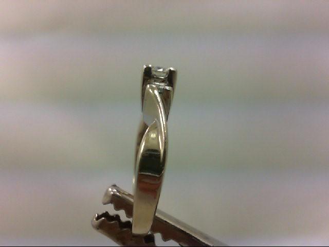 Lady's Diamond Engagement Ring 3 Diamonds .30 Carat T.W. 14K White Gold 3.3g