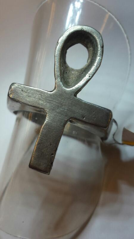 STERLING ANKH RING SIZE 5.25