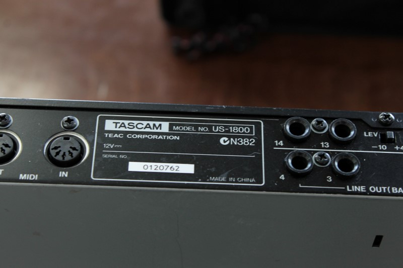 Tascam US-1800 16-in, 4-out USB 2.0 Recording Audio Interface