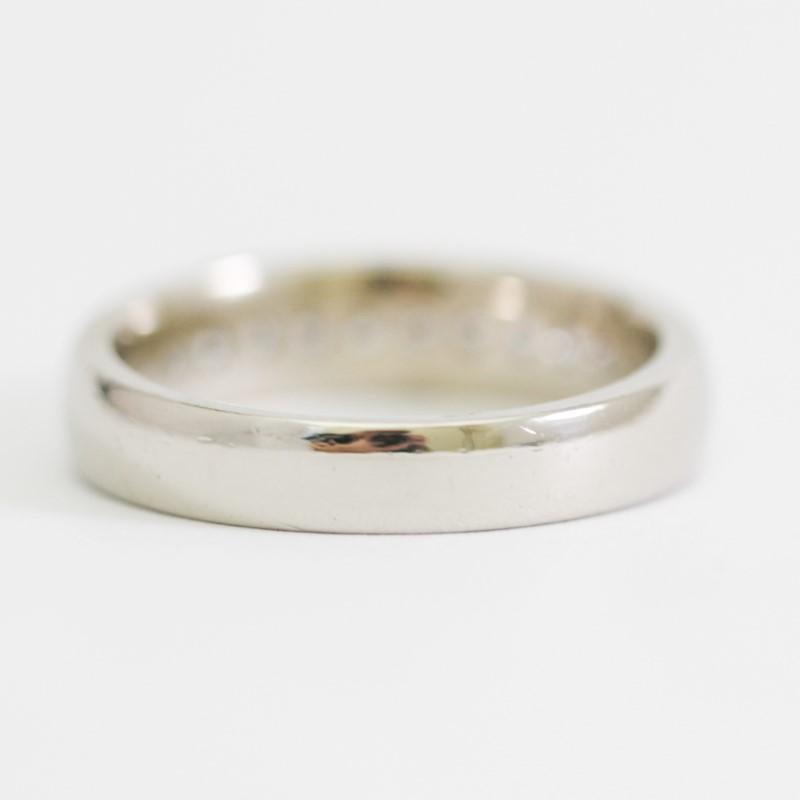 14K White Gold Channel Set Diamond Wedding Band Size 12