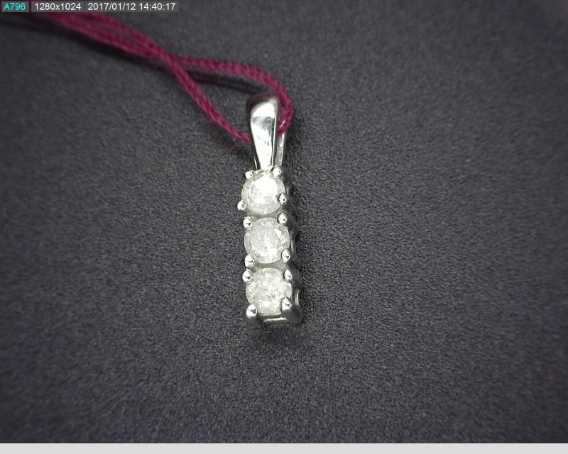 THREE DIAMOND APX.15C.T.W 10KWG PENDANT