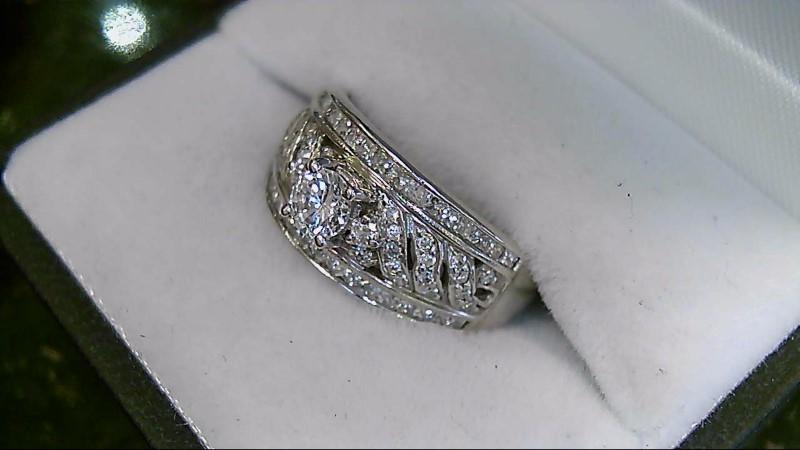65 Diamond 0.91 CTW 14K White Gold Fashing Ring