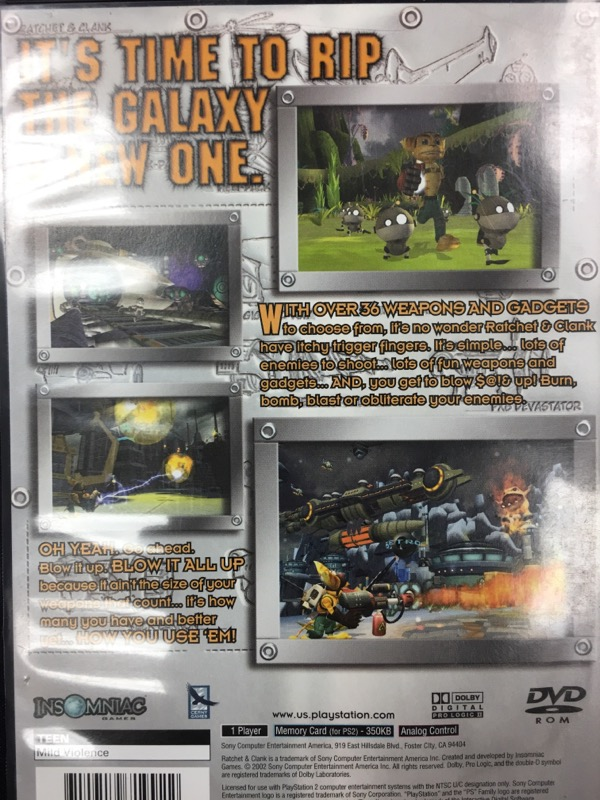 SONY Sony PlayStation 2 Game RATCHET AND CLANK