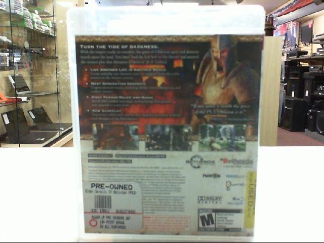 The Elder Scrolls IV Oblivion - PS3 - Playstation 3