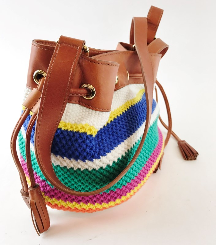 UGG QUINN CROCHET SMALL DRAWSTRING SHOULDER BAG