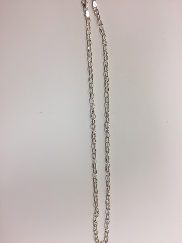 """20"""" Silver Anchor Chain 925 Silver 9.5g"""