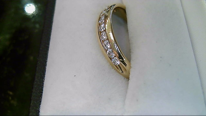 9 Diamond 0.54 CTW 14K Yellow Gold Wedding Band