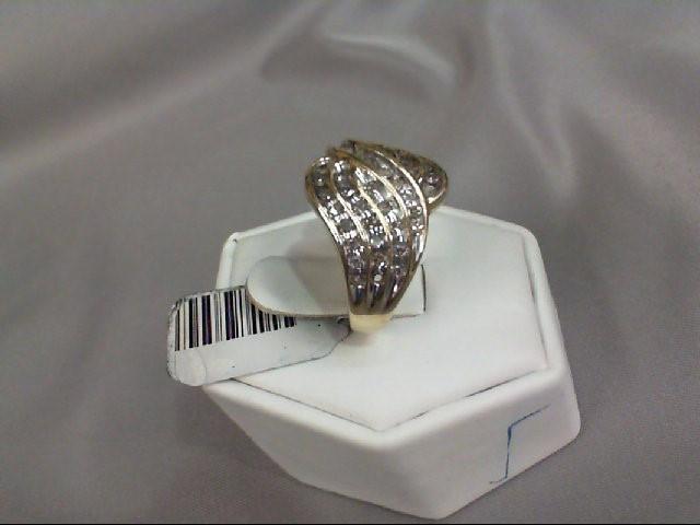 Lady's Diamond Fashion Ring 40 Diamonds .40 Carat T.W. 10K Yellow Gold 5.14g